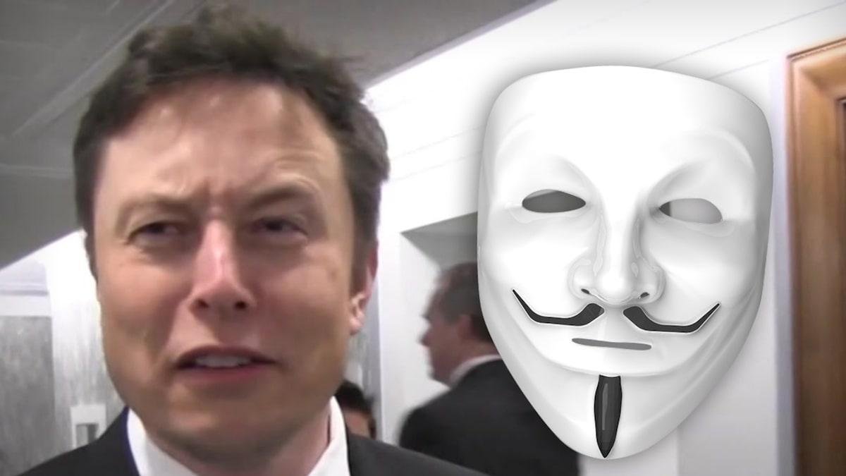 Elon Musk doelwit in nieuwste video van Anonymous Hacker Group
