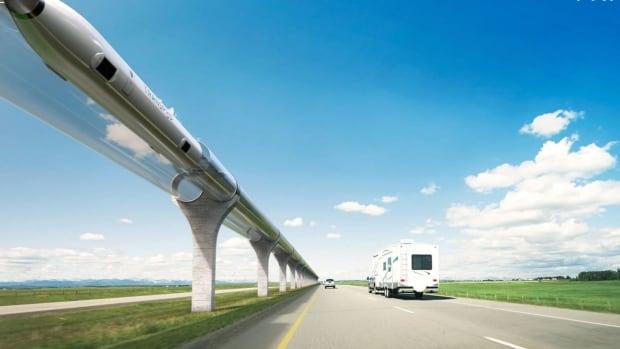 Canadian Hyperloop zegt dat reizen met hoge snelheid tussen Calgary en Edmonton mogelijk is