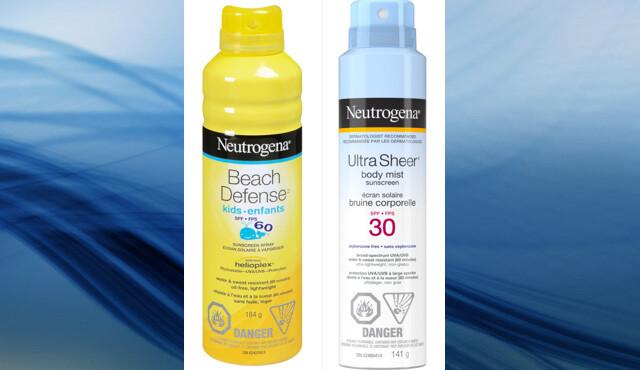 Health Canada roept Neutrogena Beach Defense en Ultra Sheer Aerosol-zonnebrandcrème terug vanwege hoge benzeenniveaus