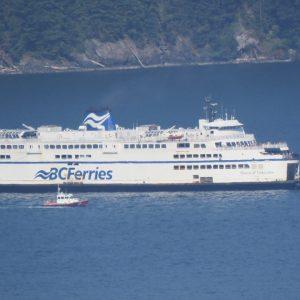 Tientallen BC Ferries-passagiers verschijnen voor zeilen die nooit eerder bestonden
