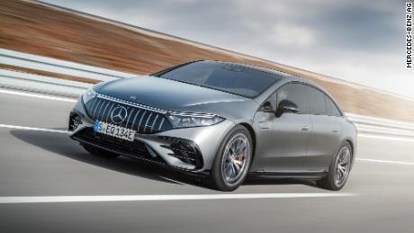 De Mercedes-AMG EQS is speciaal ontworpen voor krachtige elektromotoren.