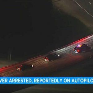 Kijk hoe de politie een Tesla stopte volgens de automatische piloot