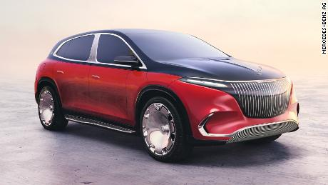 De Mercedes-Maybach EQS is een grote en luxe elektrische SUV.